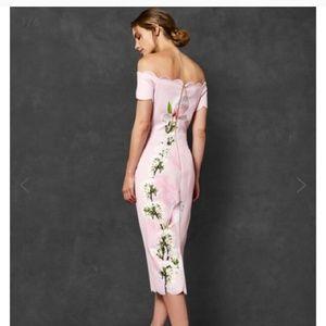 Ted Baker Pink Floral Dress size 3 (US 8/10)